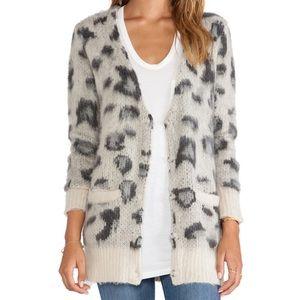Free People Snow Leopard Cardigan